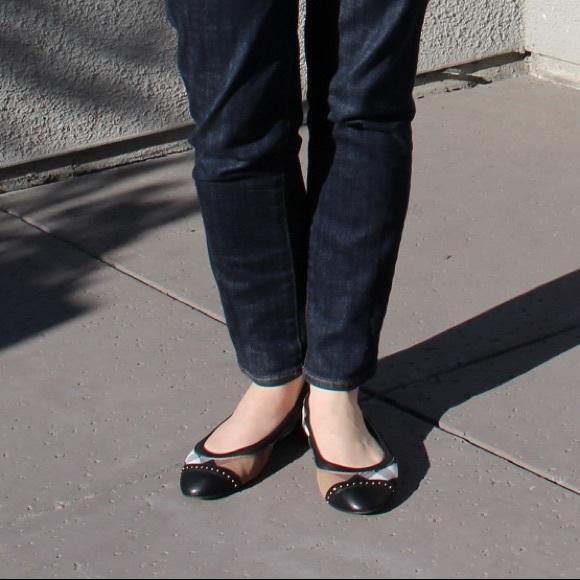 0066f1745fb Burberry Shoes - Burberry Southwark Cap Toe Studded Ballet Flats